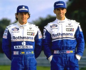 Senna and Damon at the start of the ill-fated 1994 season