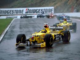 Damon leading the Belgian GP in 1998