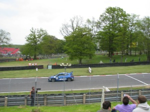 Damon Hill racing again at Brands Hatch (own photo)