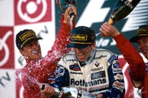 The Suzuka podium, 1996