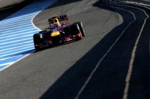 Mark Webber in the new Red Bull