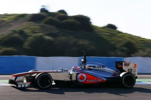 Jenson Button setting the pace in Jerez