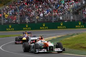 Sutil keeping Vettel at bay (one of the many surprises in Melbourne!)