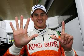 Adrian Sutil - a clue here as to his finishing position!