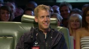 Vettel shooting the breeze with the Top Gear lads