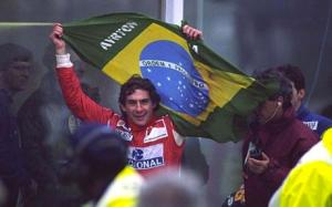 Ayrton Senna at Donington 1993 - arguably his finest race win