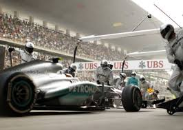 Mercedes pitstop - first of many...