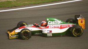 Johnny Herbert driving for the beleaguered Team Lotus in 1993