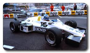 Keke Rosberg, on his way to winning the Monaco GP in 1983.