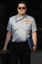 Paul Hembury - the head honcho at Pirelli having a good day at the office for once!