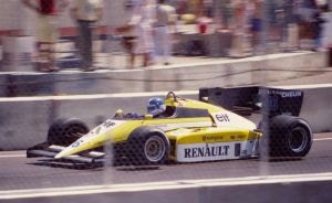 Derek Warwick back in the day at the 1984 US GP