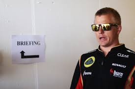 Kimi, as enthused as ever about the upcoming post-race briefing