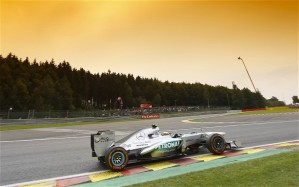 Lewis in action at Spa