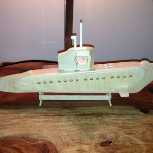 The Submarine as lovingly crafted by the husband.
