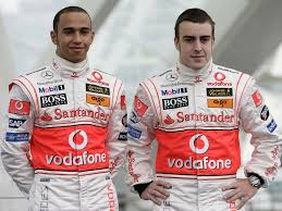 Lewis and Fernando, before it all imploded at McLaren