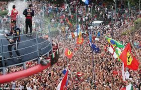 The Monza podium (there may have been some boos!)