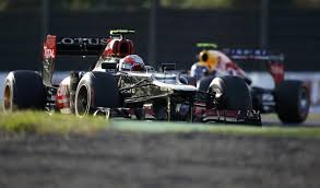 Grosjean leads Vettel. Exciting while it lasted!