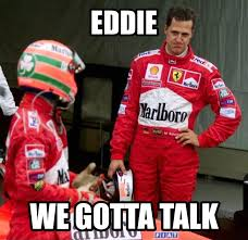 Two more different team-mates you could never find. Eddie Irvine and Michael.