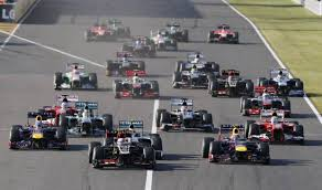 The start of the Japanese GP 2013