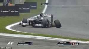 And that's what happens when you tangle with a half-concentrating Lewis Hamilton