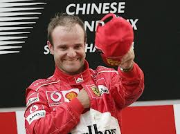 Rubens Barrichello proving nice guys do win sometimes.