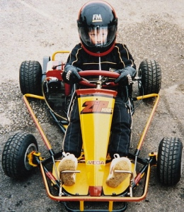 Jenson starting off in karts